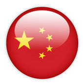China flag button — Stock Vector