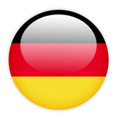 German flag button — Stock Vector