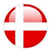 Denmark flag button — Stock Vector