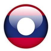 Laos flag button — Stock Vector