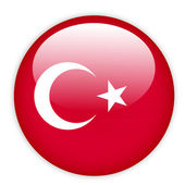 Turkey flag button — Stock Vector