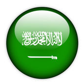 Saudi Arabia flag button — Stock Vector