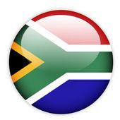 South Africa flag button — Stock Vector