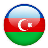 Azerbaijan flag button — Stock Vector