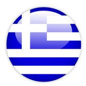 Greece flag button — Stock Vector