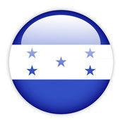 Honduras flag button — Stock Vector