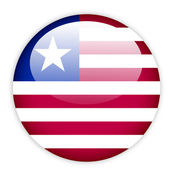Liberia flag button — Stock Vector