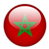 Moroco flag button — Stock Vector