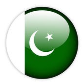 Pakistan flag button — Stock Vector