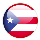 Puerto Rico flag button — Stock Vector