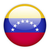 Venezuela flag button — Stock Vector