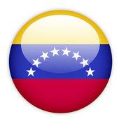 Venezuela flag button — Stock Vector