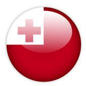 Tonga flag button — Stock Vector