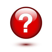 White question mark on red — Vector de stock