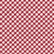 Red and white striped seamless tablecloth — Stock Photo