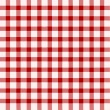 Stock Vector: Red and white tablecloth