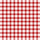 Red and white tablecloth — Stock Vector