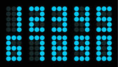 Conjunto de número digital ponto azul — Vetorial Stock