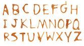 Coffee alphabet mark — Stock Photo