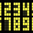 Set of yellow digital number — Imagen vectorial