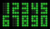 Conjunto de número digital ponto verde — Vetorial Stock