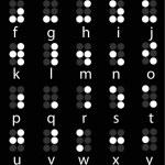 Set of white braille alphabet — Stock Vector