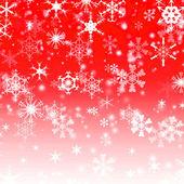 Christmas snowflake on red — Stock Photo