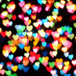 Defocused hearts — Foto Stock