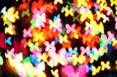 Defocused of christmas light butterfly — Stock Photo