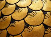 Gold dragon scales — Stock Photo
