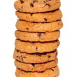 Chocolate chips cookies stack — Stock Photo #18546793