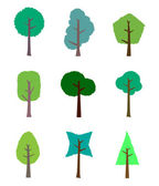 The collection of trees for design — Stock Vector