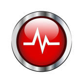 Heart rate sign — Stock Vector