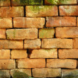 Texture of orange brick stone — Stock Photo