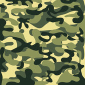 Classic Seamless Military Camouflage Pattern — Stock Vector