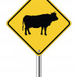 Cow sign — Stock Vector #24659187