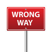 Wrong way traffic sign — Stock vektor