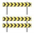 Yellow and black construction barricade — Stock Vector