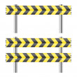 Royalty-Free Stock Imagem Vetorial: Yellow and black construction barricade
