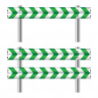 Green and white construction barricade — Stock Vector