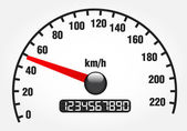 Illustration of a speedometer — Vector de stock