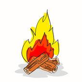 Hand drawn bonfire — Stock Vector
