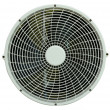 Close up of air conditioner fan on white — Stock Photo