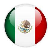 Mexico flag button — Stock Vector