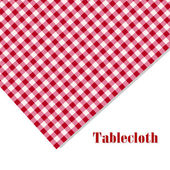 Red and white tablecloth picnic on white — Stock Vector