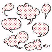 Röd polka prickade på ordet tal — Stockvektor
