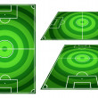 Set of Football or Soccer Fields Circles Striped with Vertical a — Stock Photo