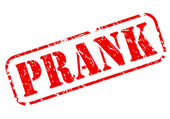 Prank red stamp text — Stock Vector