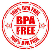 100 PERCENT BPA FREE red stamp text — Stock Vector