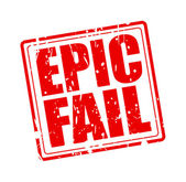 EPIC FAIL red stamp text — Stock Vector